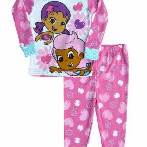 Nickelodeon Infant & Toddler Girls Pink Bubble Guppies Sleepwear Set Pajamas PJs
