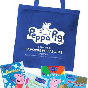 Peppa Pig: Gotta See It-Favorite Peppasodes Pack w/ Kids Tote Bag