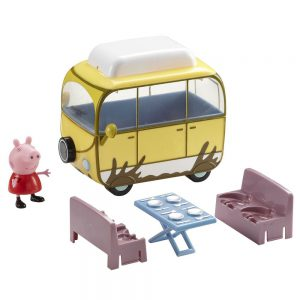 Peppa Pig's Muddy Puddle Campervan Campervan (with Peppa, folding table and benches)