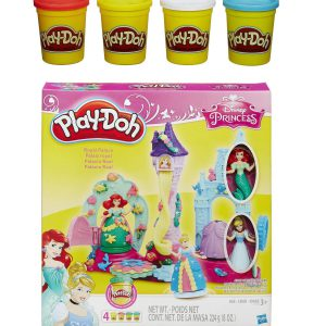 Play-Doh Royal Palace Featuring Disney Princess and Extra Play-Doh 4-Pack of Colors 20oz Bundle of 2 Items