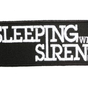 SLEEPING WITH SIRENS Band Logo Punk Rock Heavy Metal Music Patch Sew Iron on Embroidered Badge Sign Costume Gift