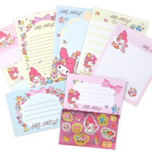Sanrio My Melody Letter Set Writing Paper 40 Sheets + 20 Envelopes + Sticker Sheet