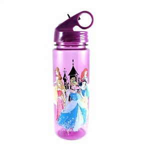 Silver Buffalo DP0164 Disney Princesses Tritan Water Bottle, 20-Ounces