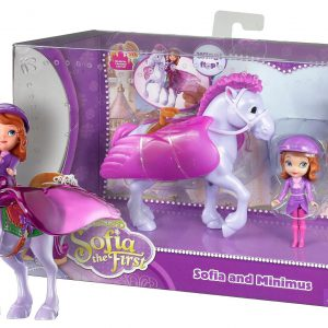 "Sofia and Minimus ~3"" Disney Sofia the First Mini-Doll Playset"