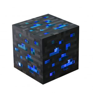 ThinkGeek Minecraft Light-Up Diamond Ore - Officially-Licensed Minecraft Collectible - Tap to Activate Light: Low, Medium, Bright