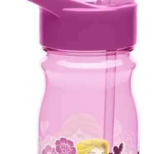 Zak! Designs Tritan Water Bottle with Flip-Up Spout and Straw with Disney Princess Graphics, Break-resistant and BPA-free Plastic, 12 oz.