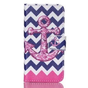 iPod Touch 6 Case, Firefish Premium Stylish Fashion Synthetic Wallet Stand Case Protective Cover Skin [Card Slots Cash Compartment] For Apple iPod Touch 6 6th 2015 version (Not iPod Touch 4) -Anchor