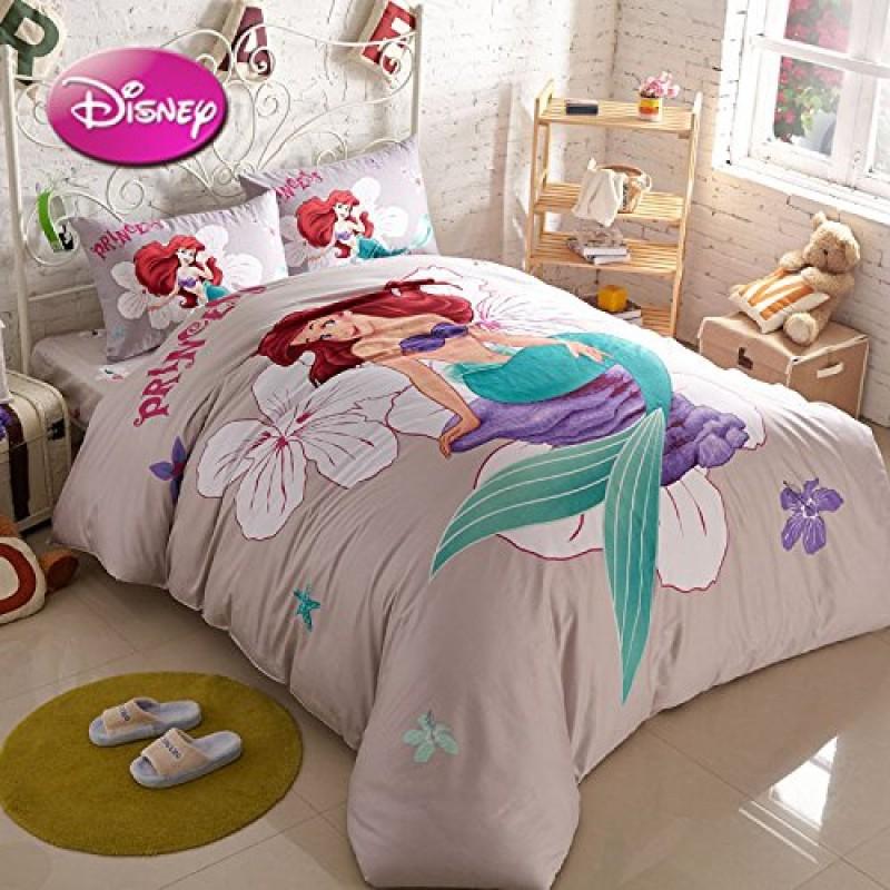 Sisbay Little Mermaid Girls Bedding, Little Mermaid Bedding Full Size