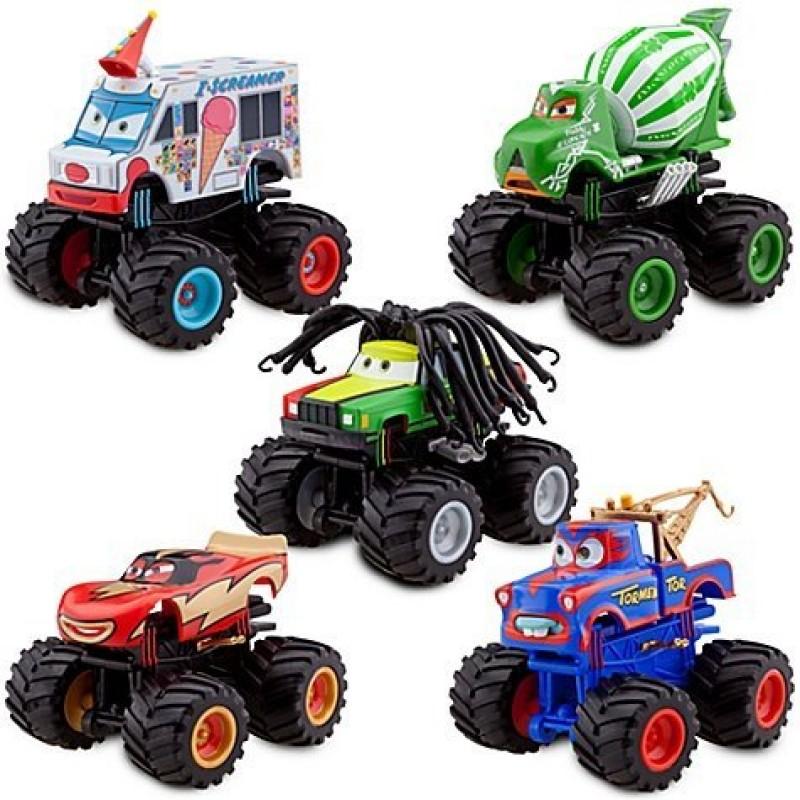 Pixar Disney Cars Diecast Monster Truck Mater 5 Pc Deluxe Figure